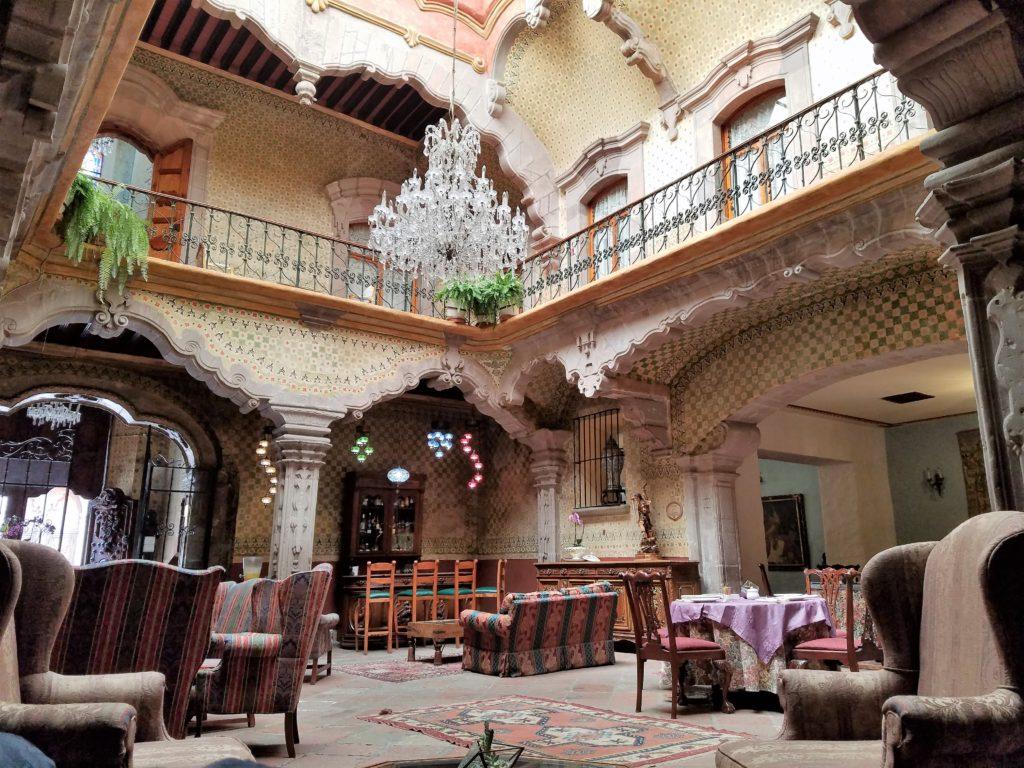 Inside courtyard of La Casa de la Marquesa, Queretaro, Mexico