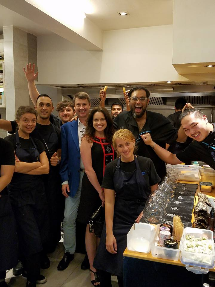 In the kitchen with Gaggan and chefs. Gaggan, Bangkok