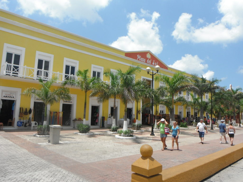 Shopping street in Cozumel