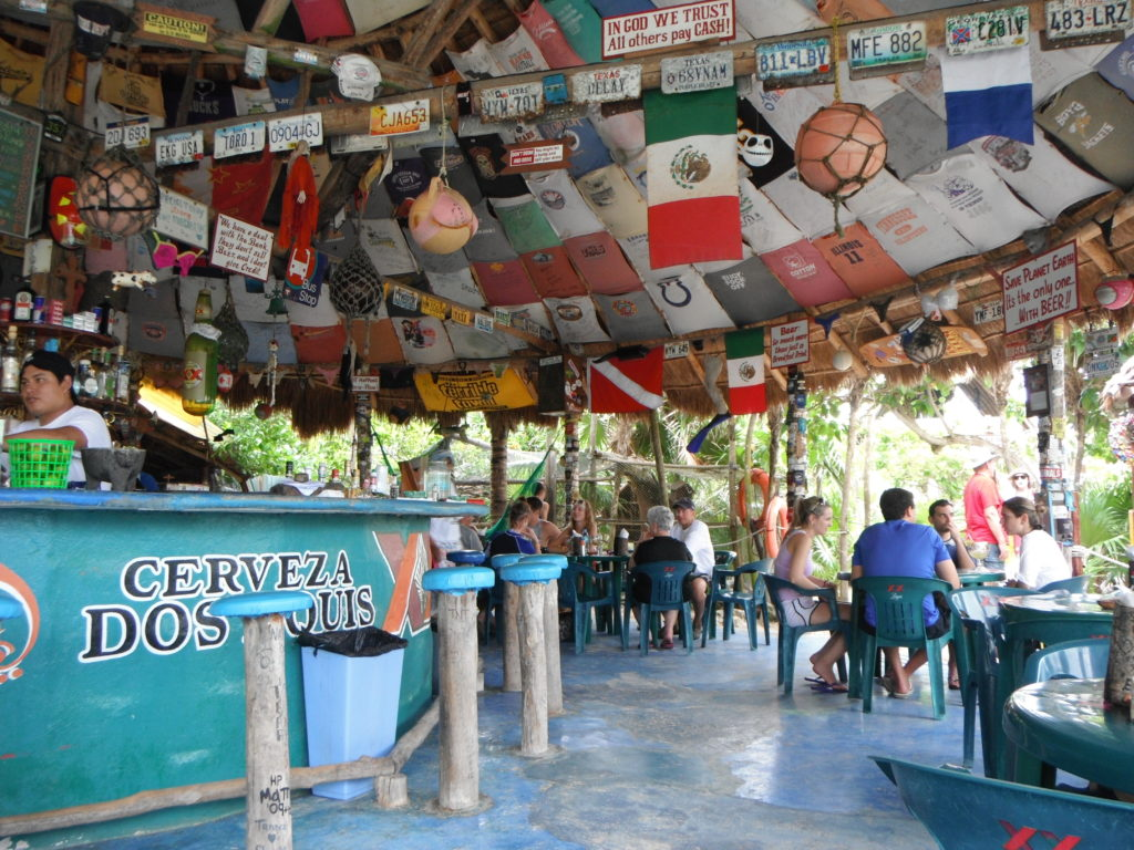 Coconuts Restaurant on the east side of Cozumel, Mexico