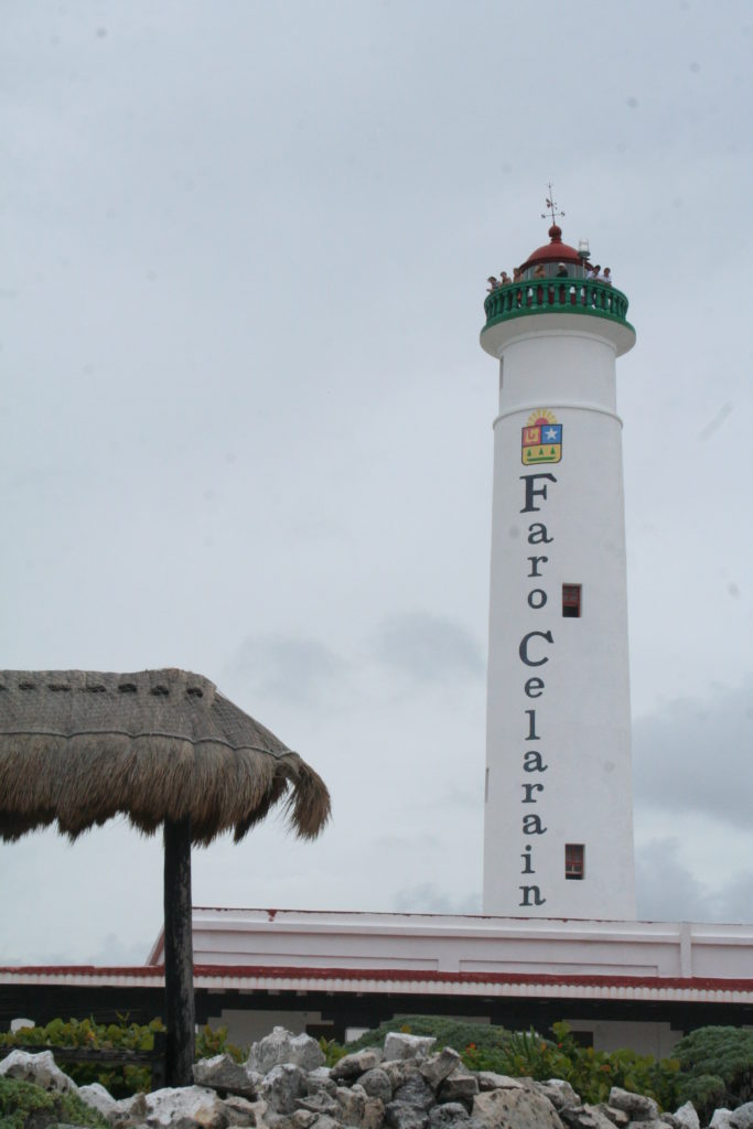 Lighthouse at the Southern tip of Cozumel island