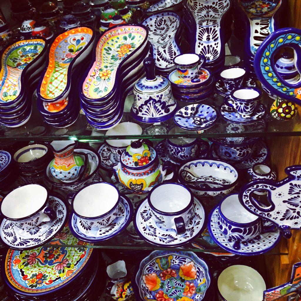 Talavera ceramics at La Cuidadela Artisan Market