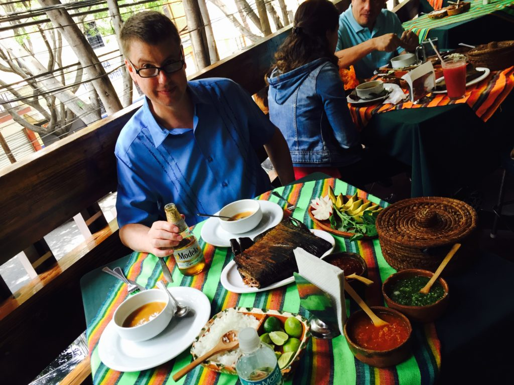 Lunch at El Hidalguense Restaurante. Barbacoa Hidalgo style. Mexico CIty