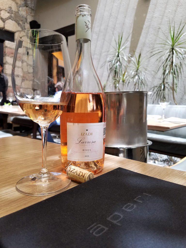 Rosé Wine at Aperi Restaurant, San Miguel de Allende, Mexico
