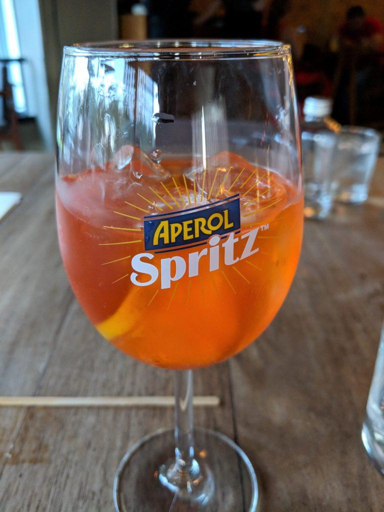 Aperol Spritzer at Alcalde Restaurant, Guadalajara, Mexico