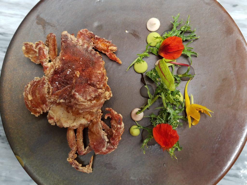 Soft Shell Crab at Aperi in San Miguel de Allende, Mexico