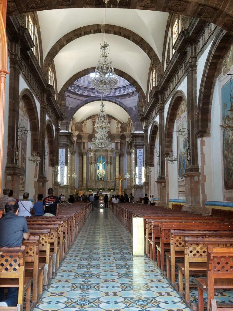 Inside Parroquia de Nuestra Senora de la Asuncion in Dolores Hidalgo, Mexico