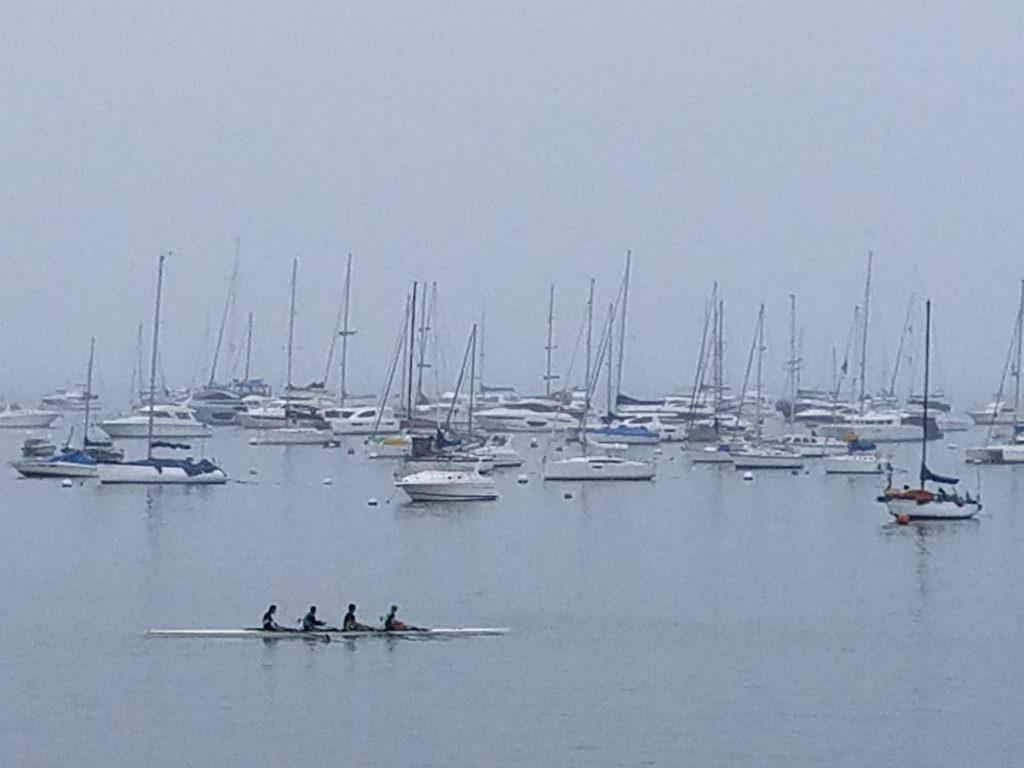 Marina in Callao with sailboats and sculls, Peru