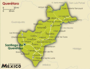 Map of Queretaro, Mexico