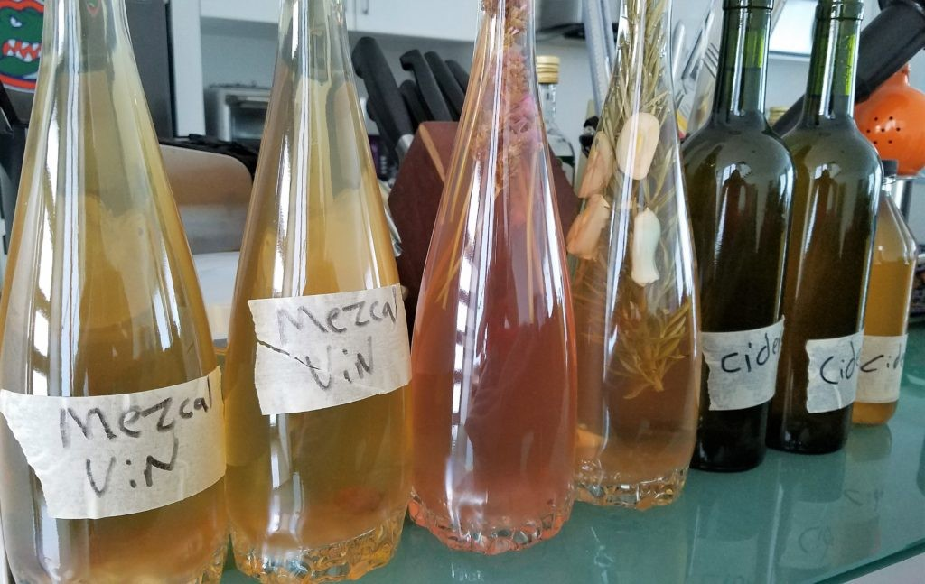 Different vinegars made by Tom