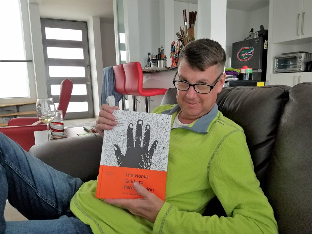 Tom with his new book THE NOMA GUIDE TO FERMENTATION.