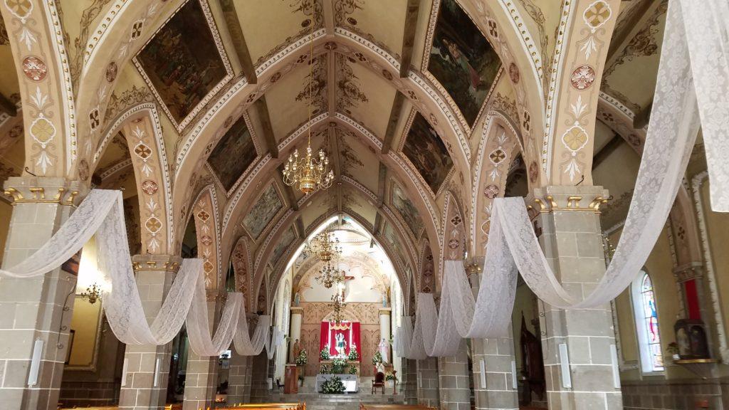 Inside the Parroquia de San Miguel Arcangel