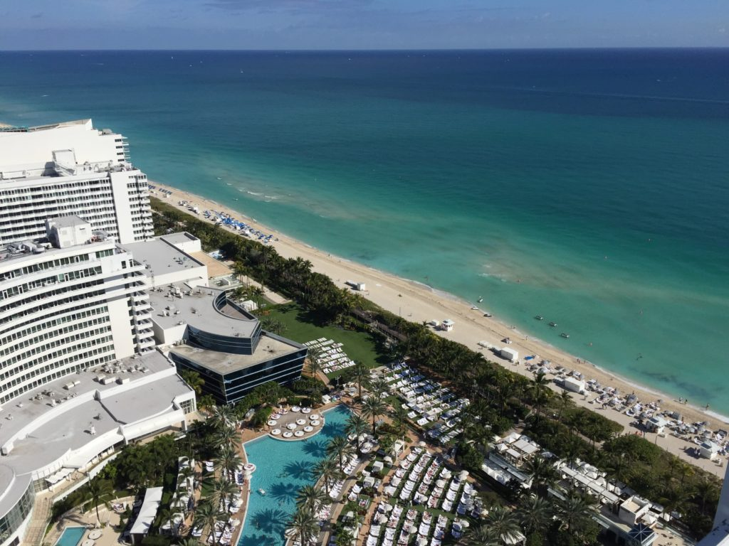 View of the Fontainebleau in Miami
