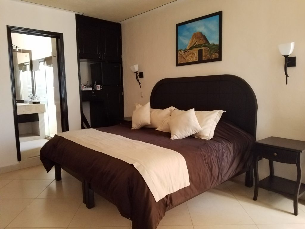 Hotel room at Hotel Feregrino, Bernal, Mexico