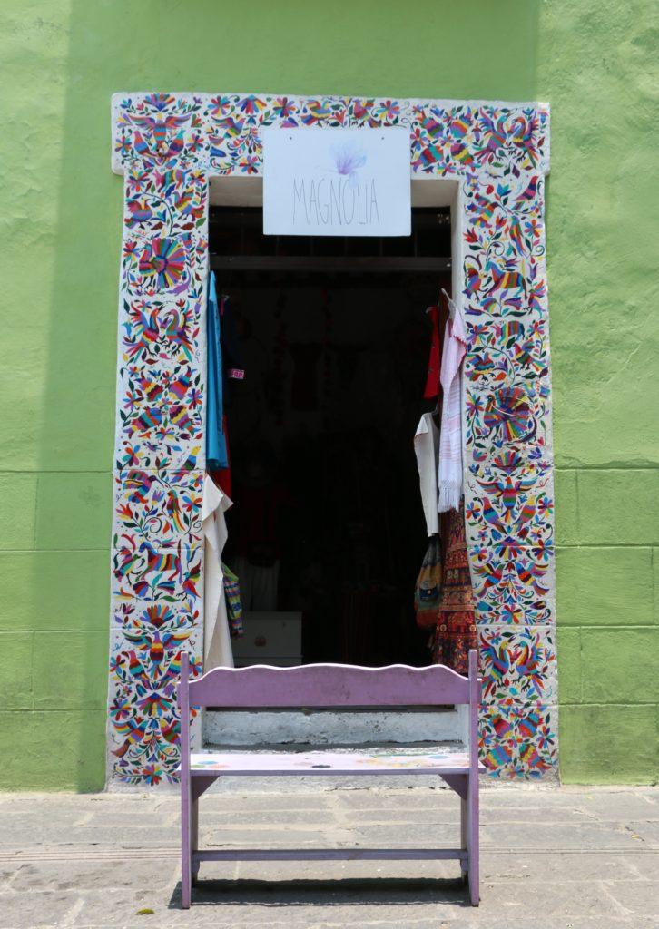 Doorway of Magnolia Shop on Calle 6 Sur, Puebla